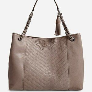NEW Tory Burch Distressed Leather Flemining Tote